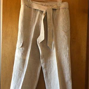 NWOT/ LIZ CLAIBORNE Lizwear Linen Capris🌻